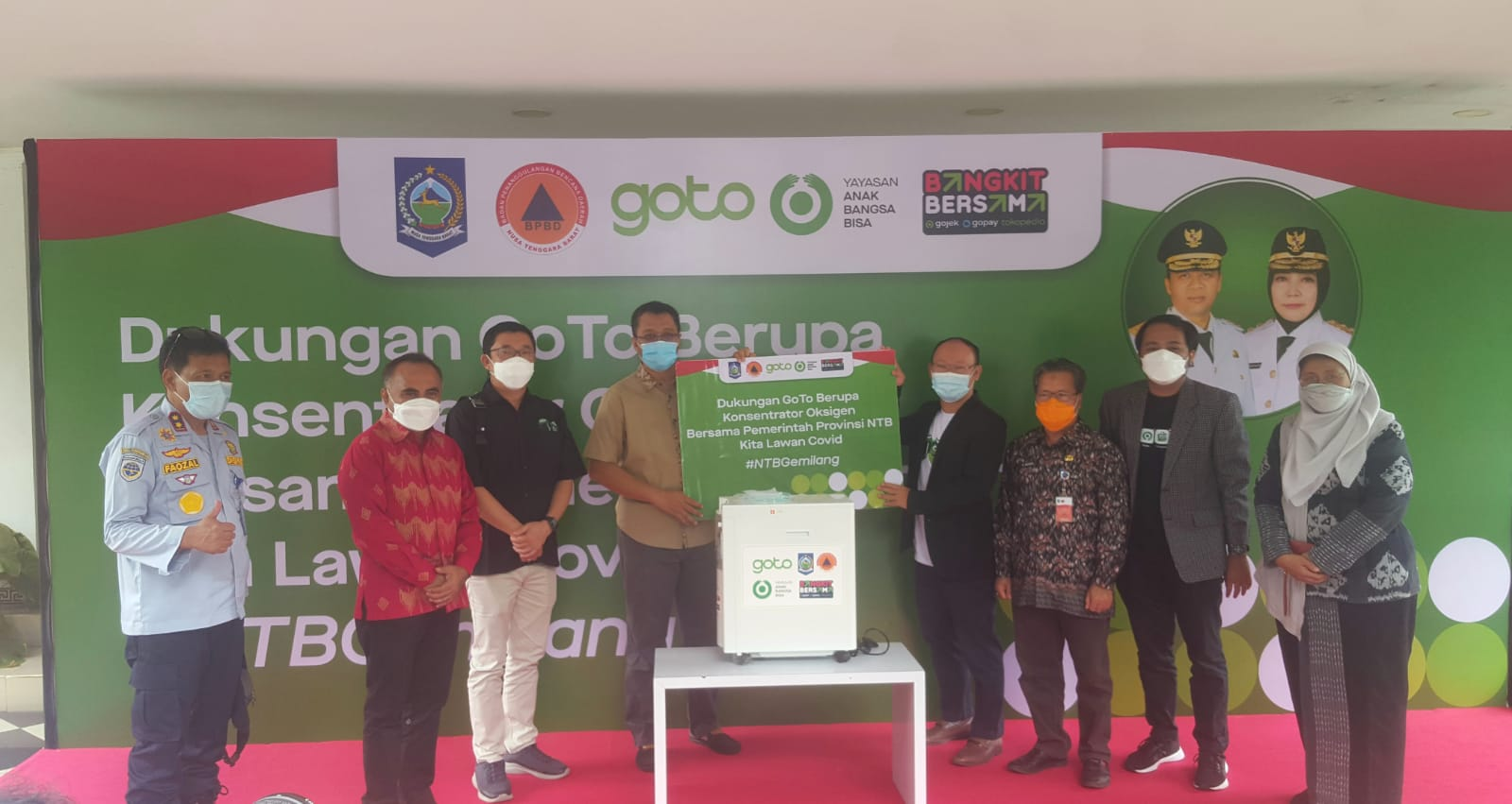 Serah Terima Bantuan Oksigen Concentrator dari GoTo Holding Group kepada Pemerintah Provinsi Nusa Tenggara Barat