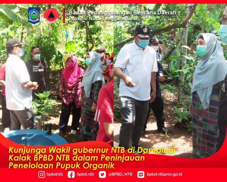 BPBD NTB Melakukan Gotong Royong dan Sosialisasi Masker di Desa Wisata Montong Gading