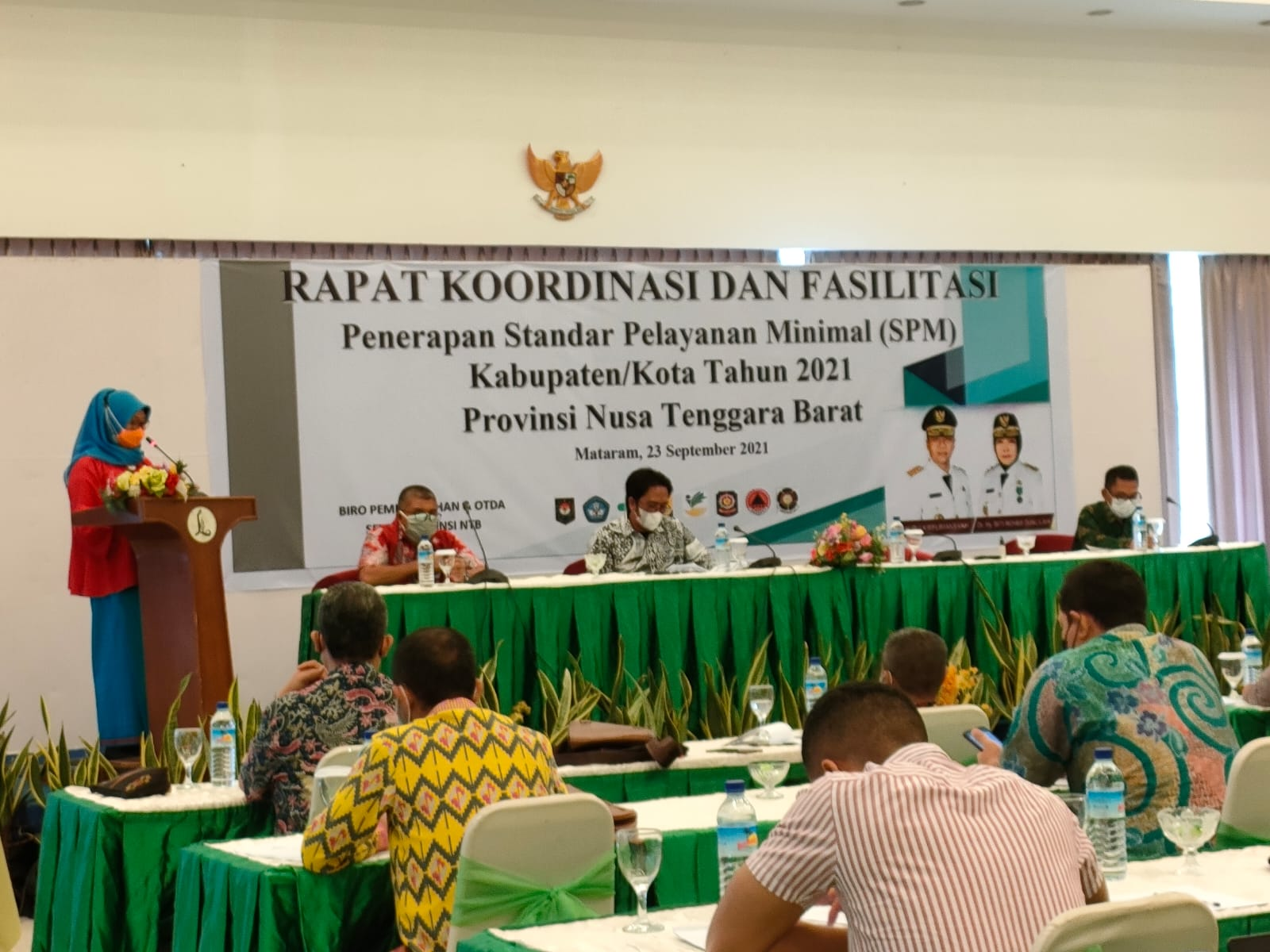 Rapat Koordinasi dan Fasilitasi Penerapan Standar Pelayanan Minimal (SPM) Kabupaten/Kota Tahun 2021